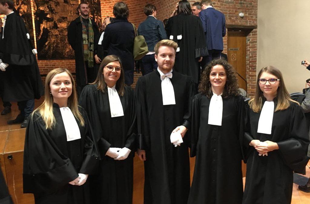 Nouveaux avocats au Barreau